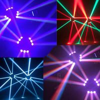 Disco Light 100 240V 100W 9 LED RGB Rotatable Stage Beam Lamp Mini Spider Light Lighting Fixture DMX512 Auto running for DJ Show