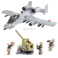 hot LegoINGlys military WW2 A10 bombers fighter war army Anti aircraft guns mini weapons figures Building Blocks brick toys gift