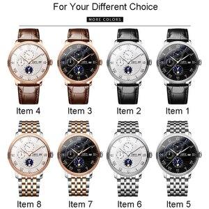 Image 5 - Relógio suíça lobinni masculino, relógios de marca de luxo de pulso seagull sapphire mecânico automático masculino L1023 2