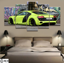 Home Decor Modular Canvas Picture 5 Piece R8 Super Car Poster Art Painting Wall For Wholesale