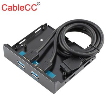 """10pcs/lot CY  USB 3.0 Dual Port Front Panel to Motherboard 20Pin Connector Cable for PC 3.5"""" Floppy Bay"""