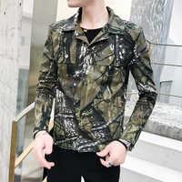 Chaqueta de camuflaje de primavera para hombre abrigo de personalidad Streetwear chaqueta de camuflaje para hombre