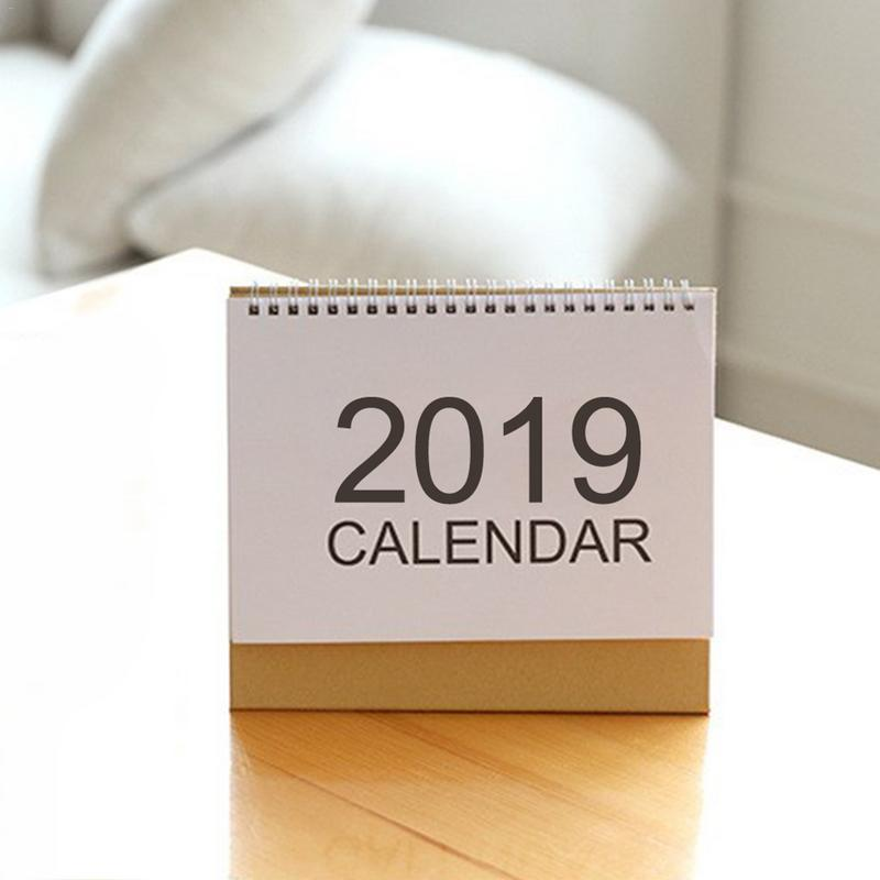 Calendar Smart Creative Simple 2019 Menu Calendar Table Desktop Calendar Agenda Organizer Daily Schedule Planner 2018.07~2019.12 Fixing Prices According To Quality Of Products