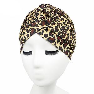 Image 3 - Sombrero de verano con estampado para mujer, gorro de quimio con estampado, bufanda musulmana islámica, turbante elástico, gorro envolvente, accesorios de sombrero para la caída del cabello