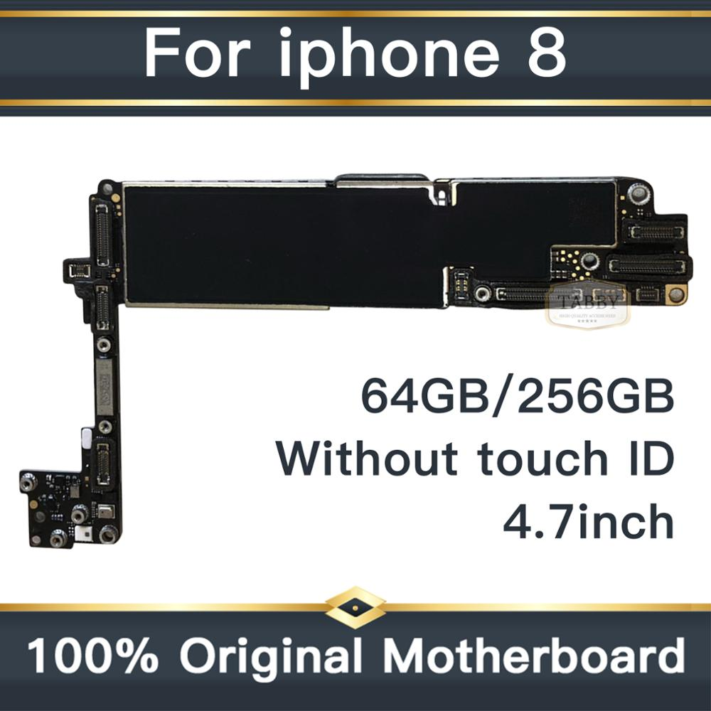 High Quality <font><b>Motherboard</b></font> For <font><b>iPhone</b></font> <font><b>8</b></font> 64G/256G <font><b>Motherboard</b></font> Without Fingerprint IOS System,without <font><b>touch</b></font> <font><b>id</b></font> Logic Board <font><b>With</b></font> Chip image