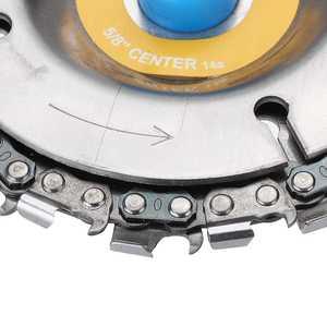Image 5 - 4 אינץ 14 שיניים מטחנות שרשרת דיסק חיתוך דיסק 16mm ארבור נגרות גילוף דיסק עבור 100/115 זווית מטחנות/מסור עגול