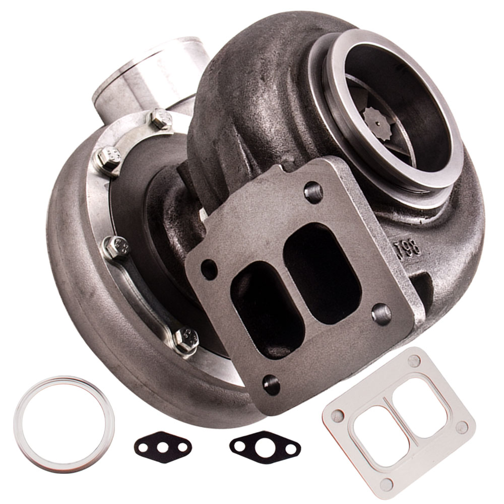 <font><b>Turbo</b></font> Turbocharger GT45 for T4 <font><b>T66</b></font> Wet Float A/R .66 A/R 1.05 Oil Cooled for Ford XR6 Falcon 4.0i A/R 1.05 turbine Universal image