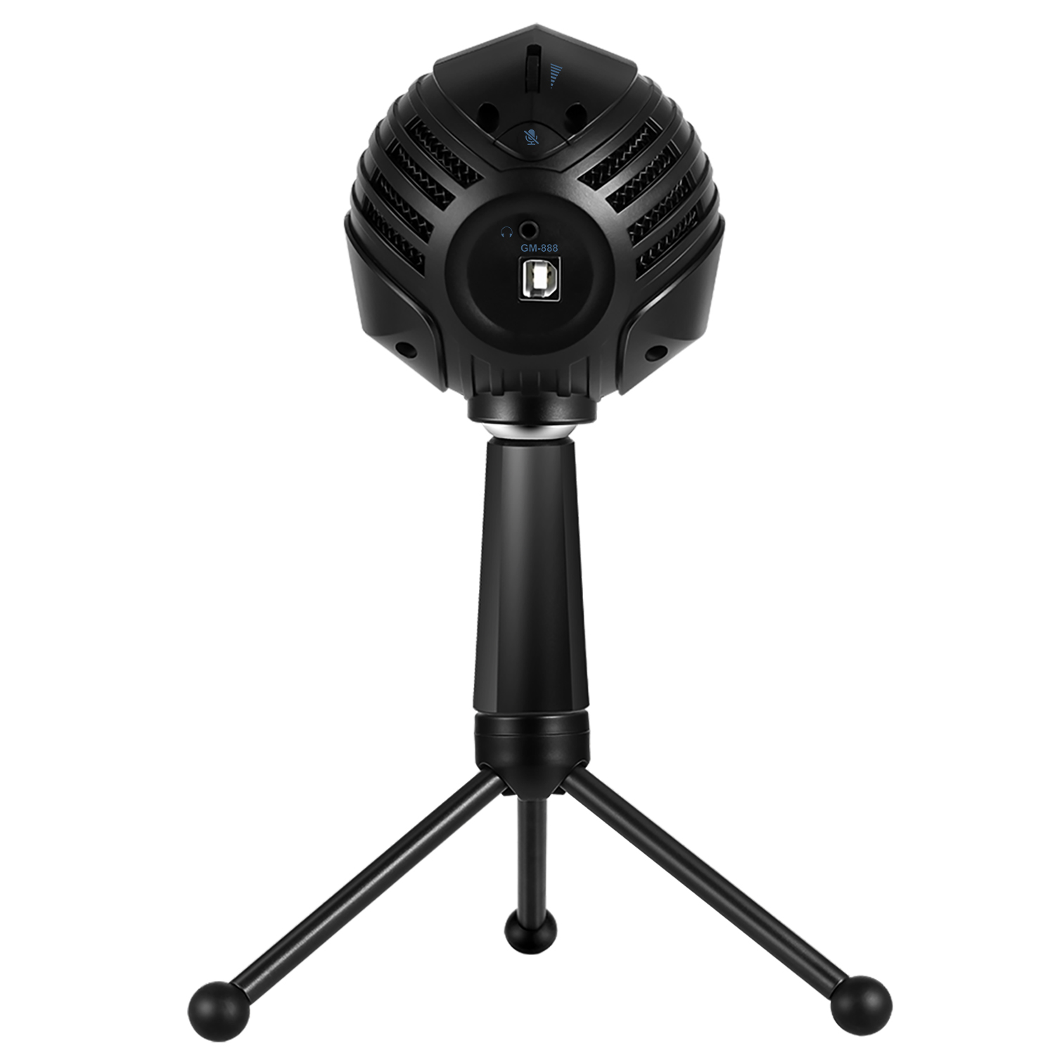 ammoon gm 888 usb condenser microphone ball shaped mic with desktop mini metal tripod stand in. Black Bedroom Furniture Sets. Home Design Ideas