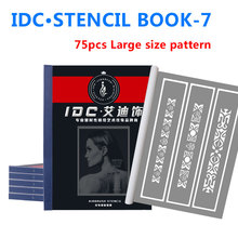 Tattoo Stencils Spray Body Art Painting For Temporary Airbrush Makeup 75 Flower Arm Pattern Tattoo stencil Booklet Wholesale-7 75 designs temporary airbrush tattoo stencil book airbrush stencils template booklet book 20