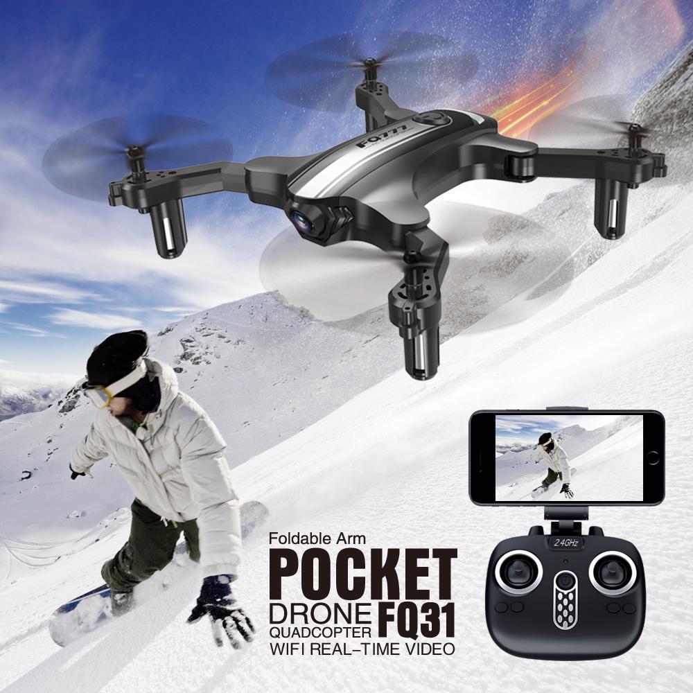 FQ777 FQ31 Folding Drone Aircraft 0.3MP/2.0MP WIFI Camera Anti-interference RC Mini Quadcopter Drone HelicopterFQ777 FQ31 Folding Drone Aircraft 0.3MP/2.0MP WIFI Camera Anti-interference RC Mini Quadcopter Drone Helicopter