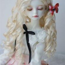 JD285 1/8 16 1/4 модный длинный волнистый парик Nobel princess BJD, размер 5-6 дюймов 6-7 дюймов и 7-8 дюймов, аксессуары для куклы из синтетического мохера
