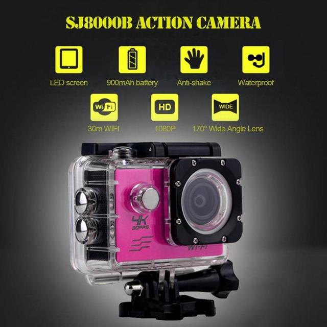 SJ8000B Somy 179 CMOS Action Camera 4K WIFI 1080P HD 16MP 4X Zoom Helmet Cam 30m Waterproof 170 Degree Wide Angle Lens Sports DV 4