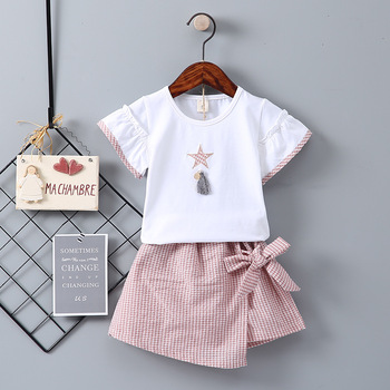 bastante agradable a492c de8bb 2019 verano nuevos conjuntos de Ropa para Niñas moda niños ...