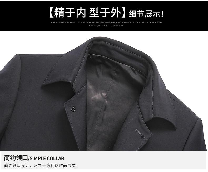 Grande Tissu Longue Couleur hommes Solide Manteau Casual Taille Tranchée 8xl Poitrine Nouvelle Unique 5xl Manteau Black Hommes Grand 7xl 6xl Laine Mode Slim RUqwwpfa