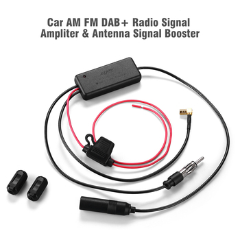 AM FM DAB+ 3-in-1 Miltipurpose Radio Signal Booster Amplifier Antenna Adaptor Car Aerial
