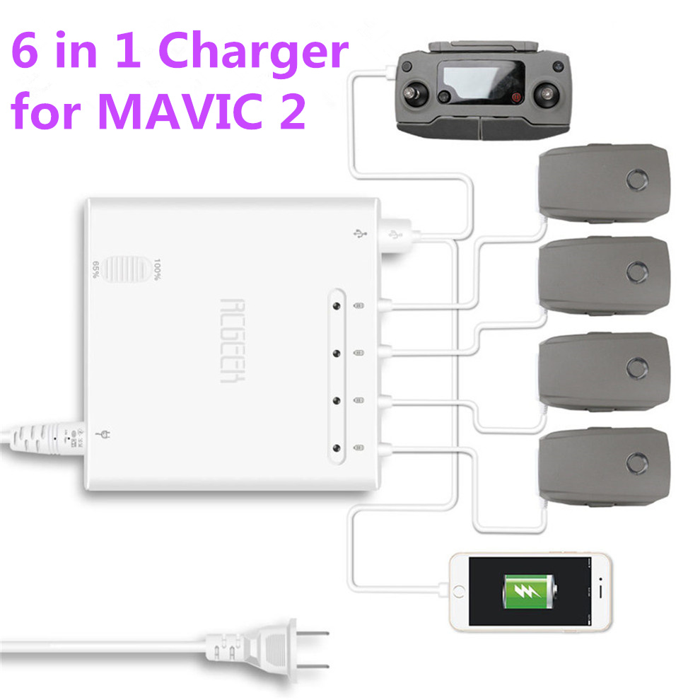 6 In 1 Battery Charger Smart Multi Battery Intelligent Charging Hub For DJI MAVIC 2 Pro/Zoom Drone Remote Controller Accessories6 In 1 Battery Charger Smart Multi Battery Intelligent Charging Hub For DJI MAVIC 2 Pro/Zoom Drone Remote Controller Accessories