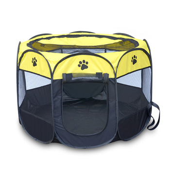 Wholesale Supply Foldable Pet Tent Pet Cage Oxford Outdoor Pet Cat Dog Puppy Fence
