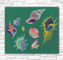 Wall Art Kusama Yayoi Shellfish, 1989 Painting For Living Room Home Decoration Hand pain te d Oil Painting On Canvas NO Frame(China)