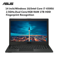 ASUS P453UJ6500 Notebook 14 Windows 10 Pro Intel Core i7 6500U Dual Core 2.5GHz 4GB RAM 1TB HDD Fingerprint HDMI Camera Laptop