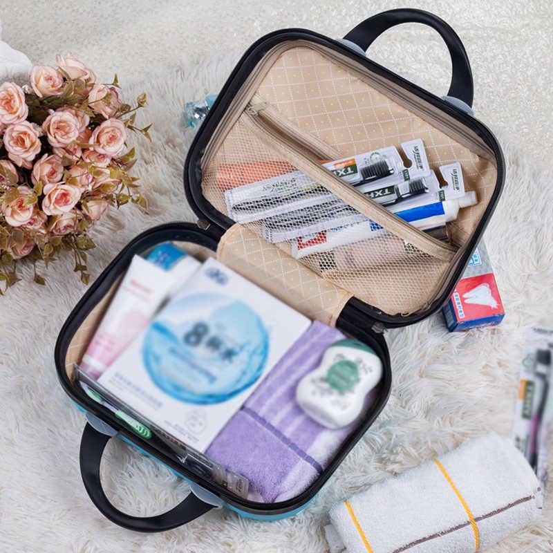 Küçük Hardside bavul seyahat haftasonu giysi güzellik makyaj tuvalet saklama kutusu kutusu valiz organizatör aksesuarları