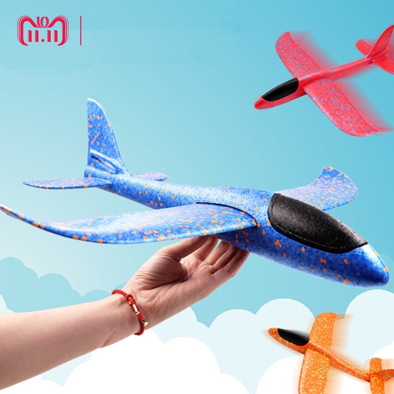Fancy Design Hand Throwing Airplane EPP Foam Plane Hand Launch DIY Glider Model Flying Toy Outdoor Fun Toys For Kids Gift Toys hand throwing kids mini play parachute toy soldier outdoor sports children s educational toys free shipping