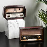 Vintage Shabby Chic accessoires pour la Maison salon décoration Maison industrielle décor café Restaurant vin Radio rétro