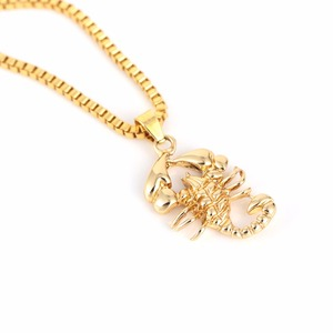Gold Color Scorpion Pendant Ne