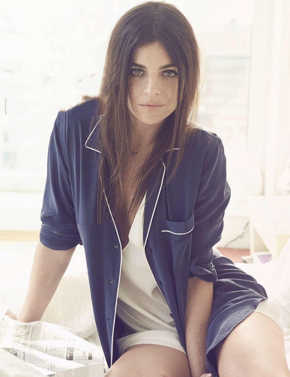 Femmes Chemise À Blue Manches Col Keira Soie Blouse Black Style Elisa Pyjama Top 100 dark De Longues gwBzavqXnw