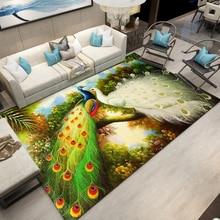 3D Carpets for Living Room Mat Rug Peacock pond flower bird Chinese style sofa large carpet study bedroom bedside table blanket