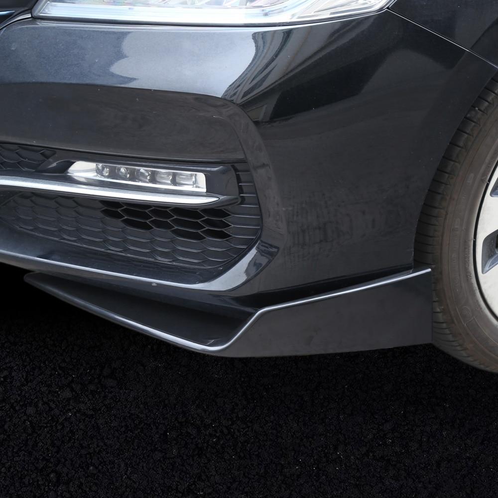 KKmoon Car Rear Bumper Protector Universal 67cm Car Rear Bumper Lip Diffuser 6 Fin Cars Back Bumper Spoiler Splitter ABS Carbon Fiber