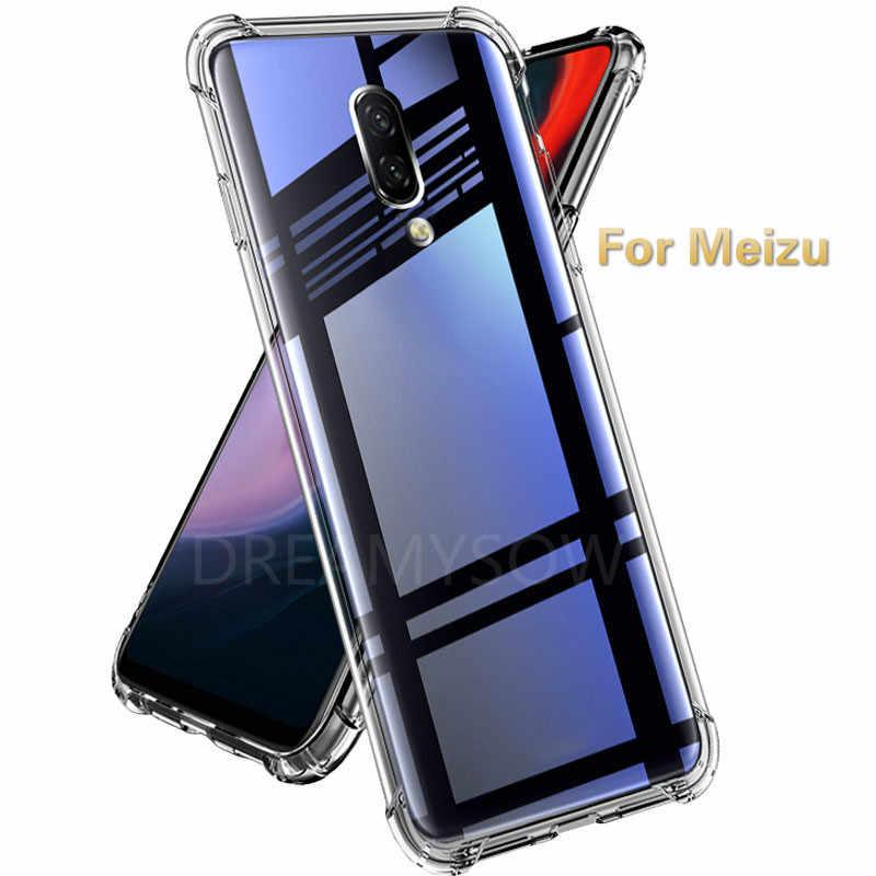 Przezroczysty silikon przezroczysty etui na telefon do Meizu V8 X8 M5C 16 15 plus lite M5S 5C S6 M5 M6 M8 uwaga 8 E3 pro7 plus, odporna na wstrząsy przypadku