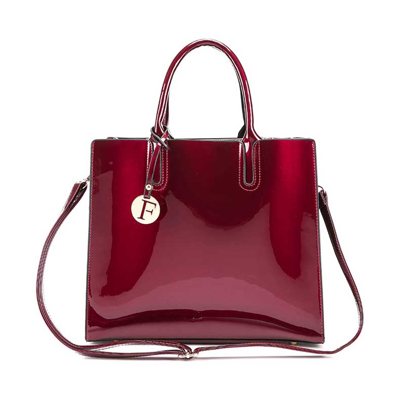 Fashion Women Patent Leather Handbag Letter Female Shoulder Bags Famous Travel Lady Bolsa Holiday Casual Large Crossbody Ss7097 Elegant And Sturdy Package Shoulder Bags