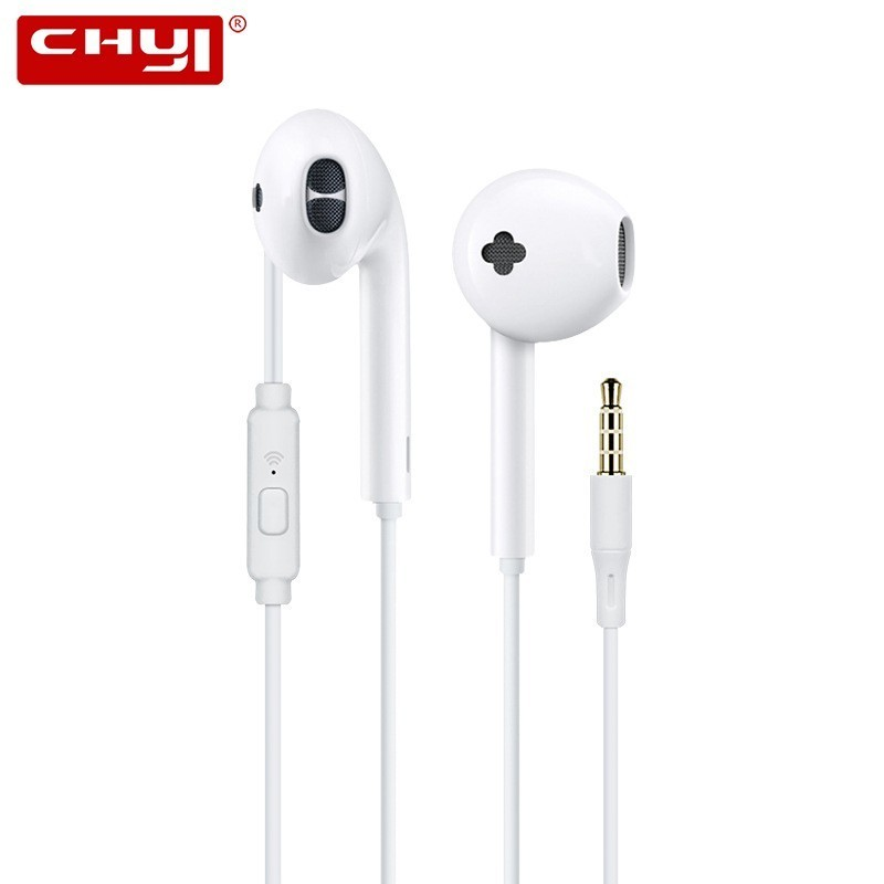CHYI Wired Gaming Headset In Ear Earphones With Microphone Handsfree Hifi Stereo Sport In-ear Cheap Earbuds For Xiaomi Huawei image