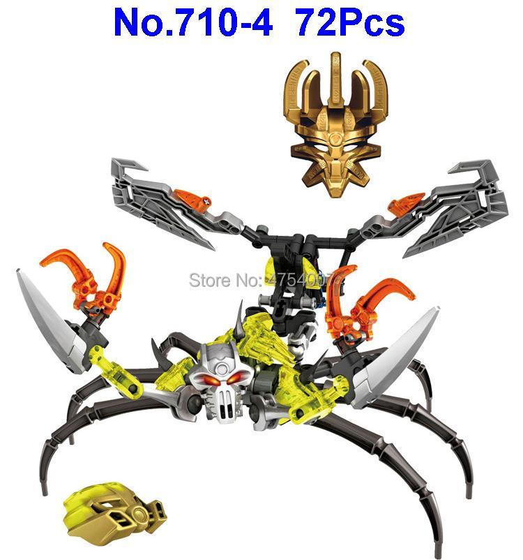 Blocks Original 710-4 72pcs Bionicle Skull Scorpio Compatible 70794 Building Block Toy Sufficient Supply
