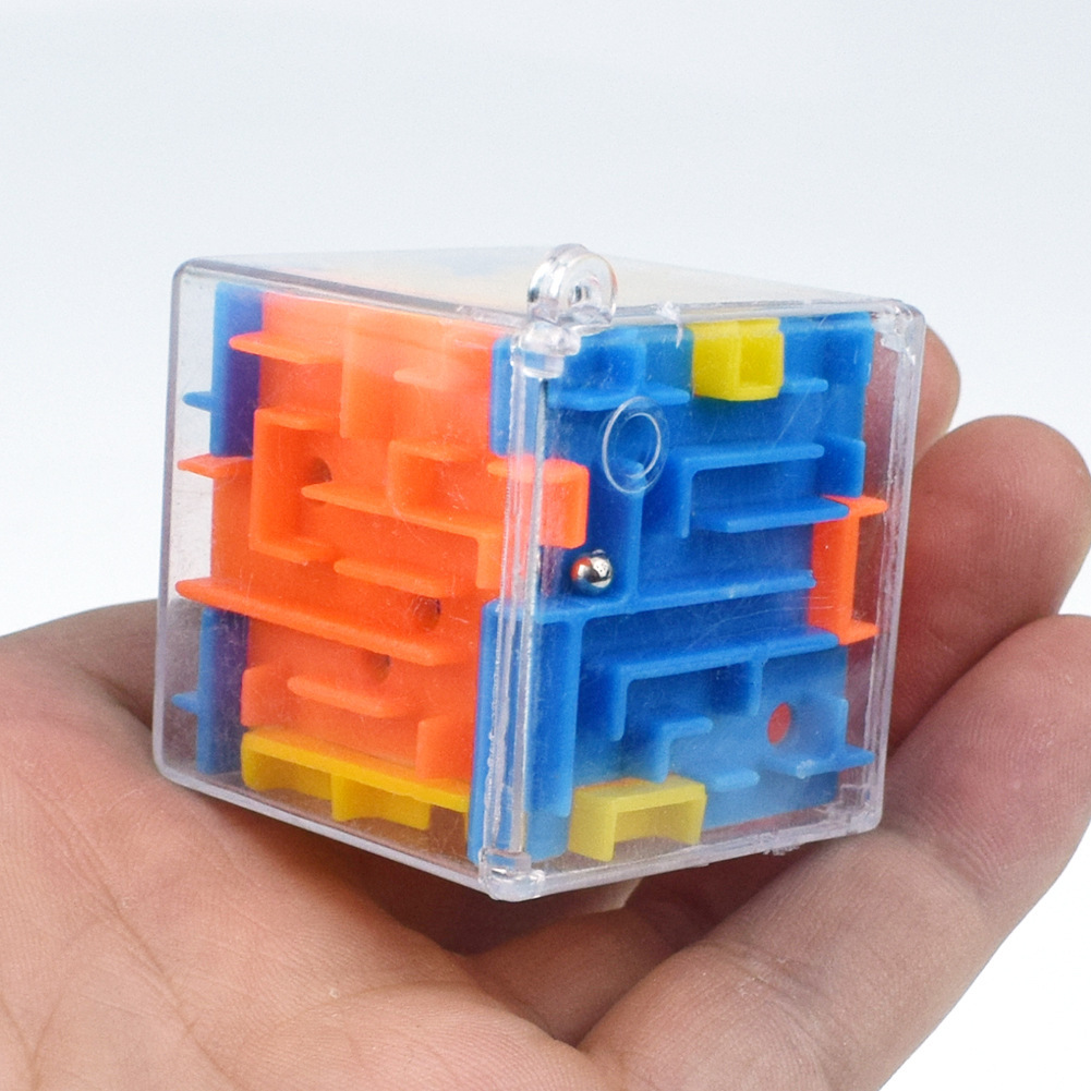 Children 3d Magic Cube Rotating Go Pearl Maze Six Noodles Three-dimensional Maze Intelligence Decompression Toys Gashapon Toys