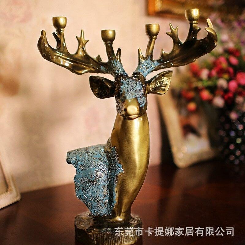 Herten Hoofd Ambachten Kandelaar Wax Tafel Decoratie Gifts Bruiloft Centerpieces Kerstversiering Thuis Kaars Lantaarn 3dzty62 Winst Klein