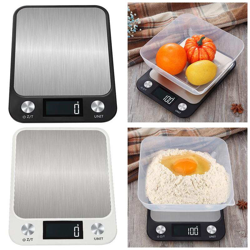 New Stainless Steel Kitchen Scale 10kg High Precision 1g Electronic Scale Food Baking Scale Dropshipping