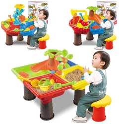 Детские летние пляжные игрушки для песочницы песок ведро водяное Колесо Настольный игровой набор игрушечные лошадки обучения детей