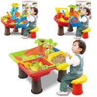 Kinder Sommer Im Freien Strand Sandkasten Spielzeug Sand Eimer Wasser Rad Tisch Spielen Set Spielzeug Kinder Lernen Bildung Spielzeug Baby Geburtstag