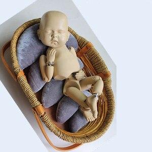 5 pçs/set fotografia do bebê adereços bebê recém-nascido posando travesseiro recém-nascido posicionador almofada crescente travesseiro foto adereços acessórios