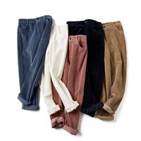 High Waisted Harem Pants Women Loose Casual Pink Pants For Women High Waist Corduroy Trousers
