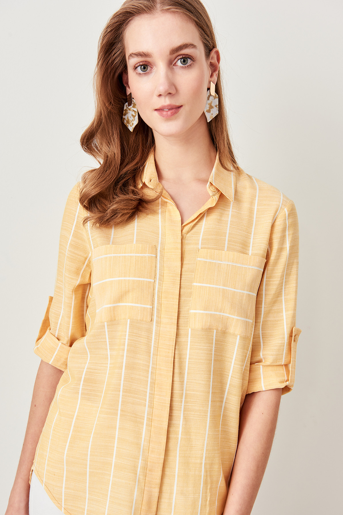 Trendyol Advanced Mobile Yellow Shirts TWOSS19ST0057