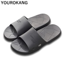 2019 Summer Men Home Slippers Indoor Bathroom Slippers Non-slip Lightweight Male Casual Beach Shoes Unisex Lovers Couple Sandals home slippers unisex indoor couple shoes badslippers non slip women bathroom flip flops lovers lightweight slides beach sandals
