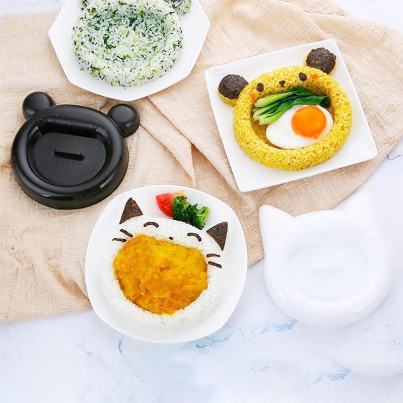 5 шт. милый мультяшный Кот Медведь Суши Нори форма для риса Декор резак форма для приготовления бенто сэндвич DIY инструмент кухонные принадлежности-0