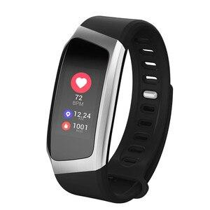 Image 4 - E18 الذكية المعصم الفرقة معدل ضربات القلب ضغط الدم رصد الرياضة سوار اللياقة البدنية ساعة ذكية ل iOS أندرويد الرجال النساء