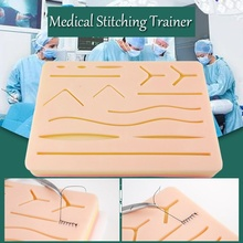 SHUNZAO cheap Medical  Silicone skins Pad Skin Suture Incision Surgical Training Kit traumatic pistol Simulation Training nursing training manikin medical simulation models medical training manikins abdominal cavity puncture model gasen csm0003a