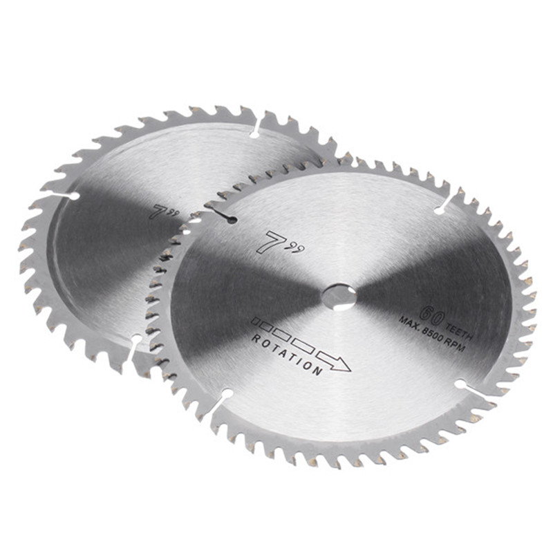 2Pcs 180mm Circular Wood Saw Blade 40 And 60 Teeth Disc For Woodworking Cutting Tool Cemented Carbide Material