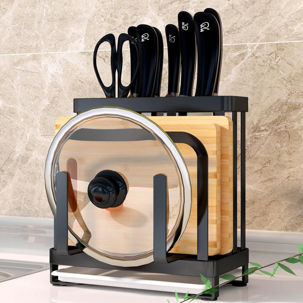 Kitchen Chopper Storage Stand Multifunctional Kitchenware Holder Cutting Board Tool Storage Shelf Stand For Knives Kitchen Tools