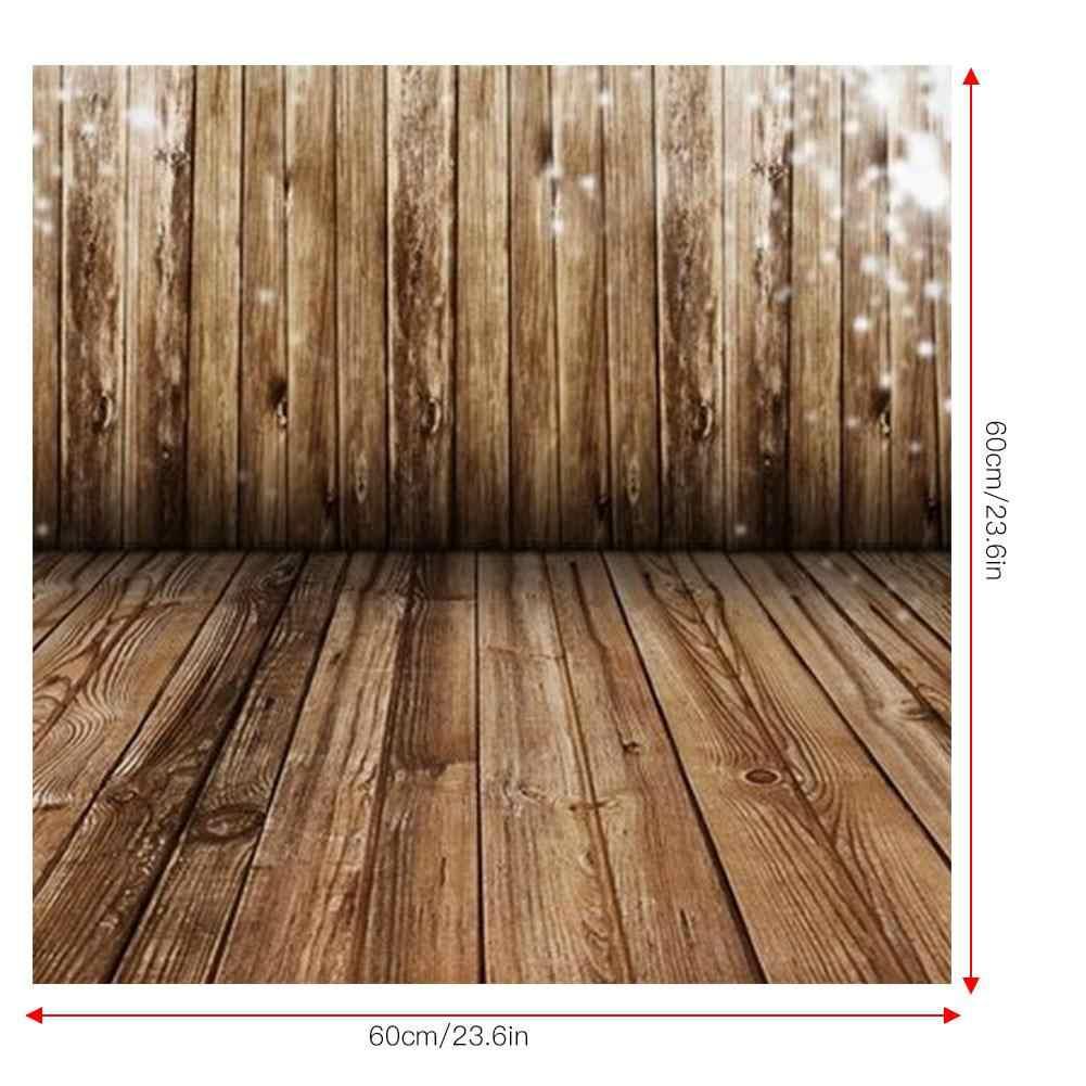 Vintage Grain de bois photographie toile de fond 60*60cm pour nouveau-né bébé Photo Studio arrière-plan photographie arrière-plans fond photographie