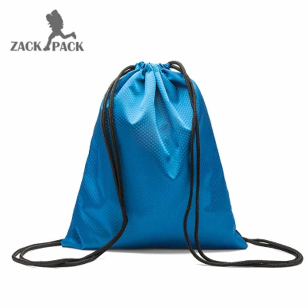 bdfa2ab977b6 ... 1 Pcs Sports Bag Waterproof Sack custom logo Oxford Cloth Bundle Pocket  Backpack nylon Rope Men ...